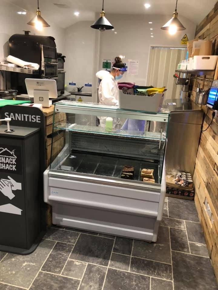 Commercial kitchen being cleaned